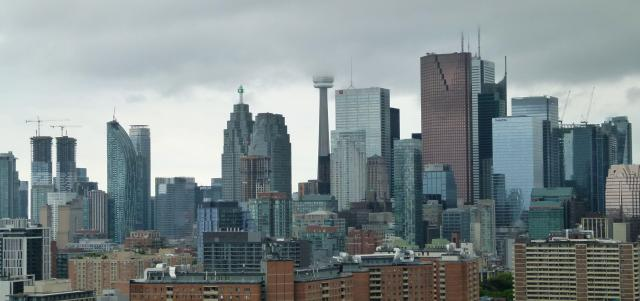 View of the Toronto skyline on a foggy morning, image by skycandy