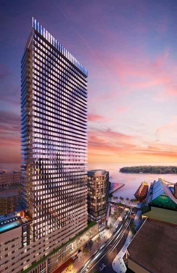 The first Lighthouse Tower at Daniels Waterfront condos, Toronto