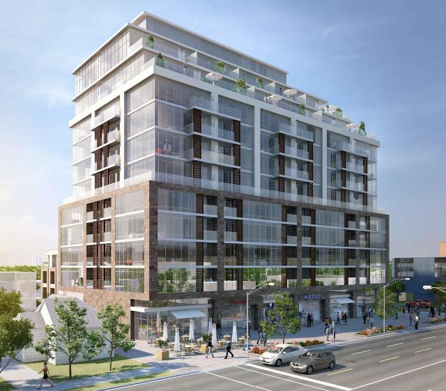 245 Sheppard Avenue West, Toronto, by PineLake Group, WZMH