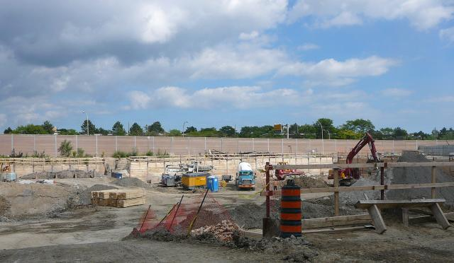 Excavation for The Yorkdale Condominiums, just west of Allen Road