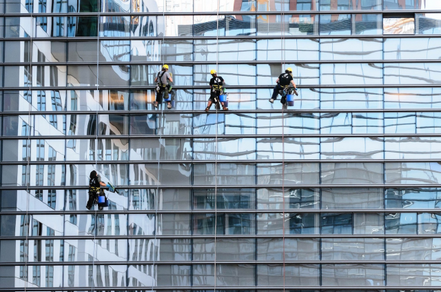 Window cleaning crews, image courtesy of Gold Standard