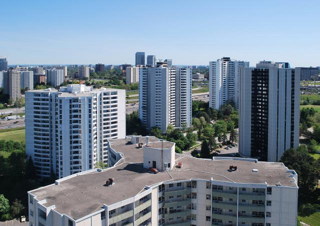 Apartment towers in North York, image by Marcus Mitanis