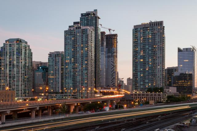 A skyline of condos, image by Jack Landau