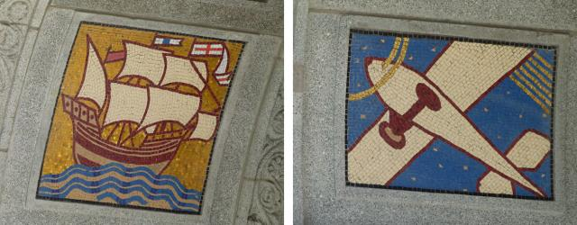 Mosaics at the base of EY Tower, image by Forum contributor skycandy