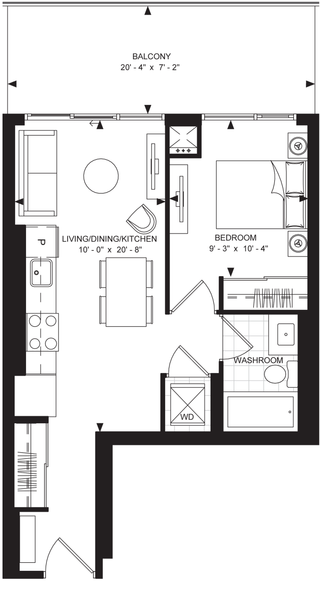 Floorplan 1-A at The Met, image courtesy of Plaza/Berkeley