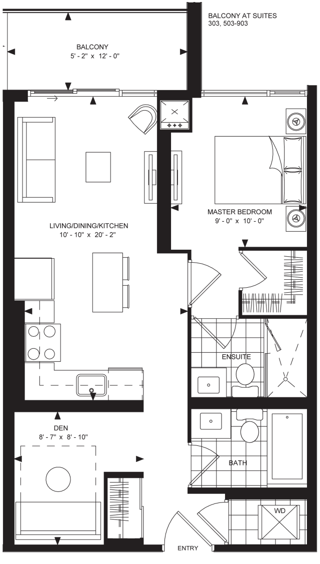 Floorplan 1D2-B1 at The Met, image courtesy of Plaza/Berkeley