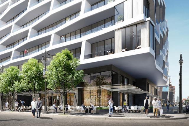 Street realm at Axis Condos, Toronto, Page + Steele, CentreCourt Developments