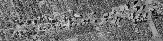 Aerial view of North York's Yonge Corridor, image via the City of Toronto