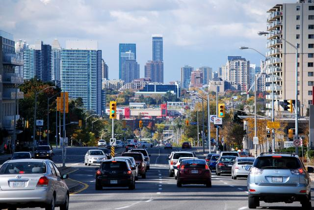 Looking west to Yonge from Sheppard, image by Marcus Mitanis