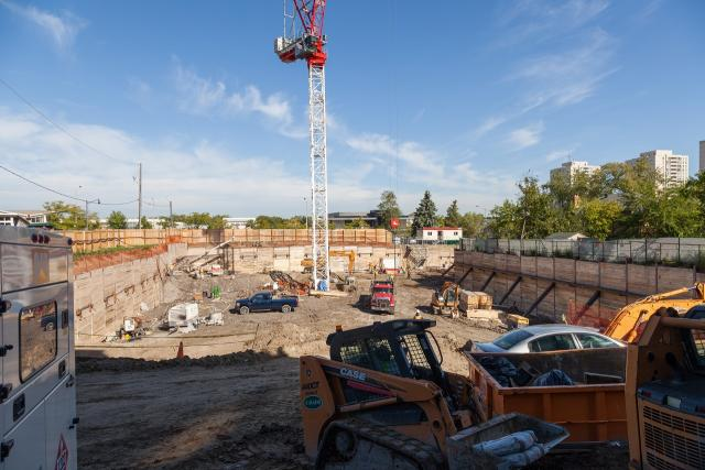 South view across the site of Lotus Condos, image by Jack Landau