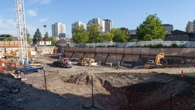 Southeast view across the site of Lotus Condos, image by Jack Landau