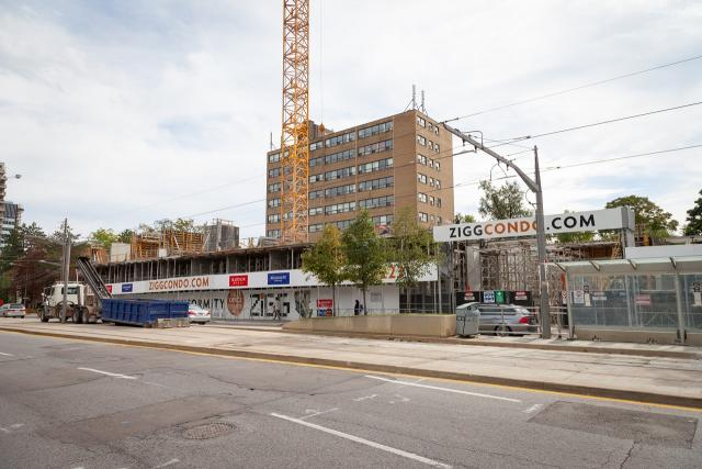 ZIGG's St. Clair Avenue West streetwall taking shape, image by Jack Landau
