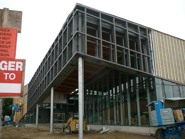 Glazing and wood finishes at the Albion District Library