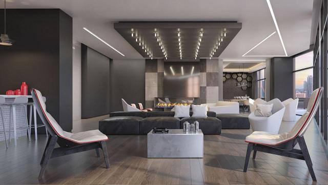 Party room at 159SW Condos, image courtesy of Alterra