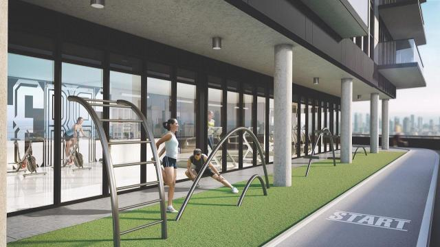 Running track at 159SW Condos, image courtesy of Alterra