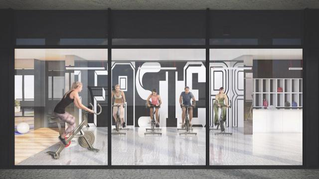Fitness centre at 159SW Condos, image courtesy of Alterra