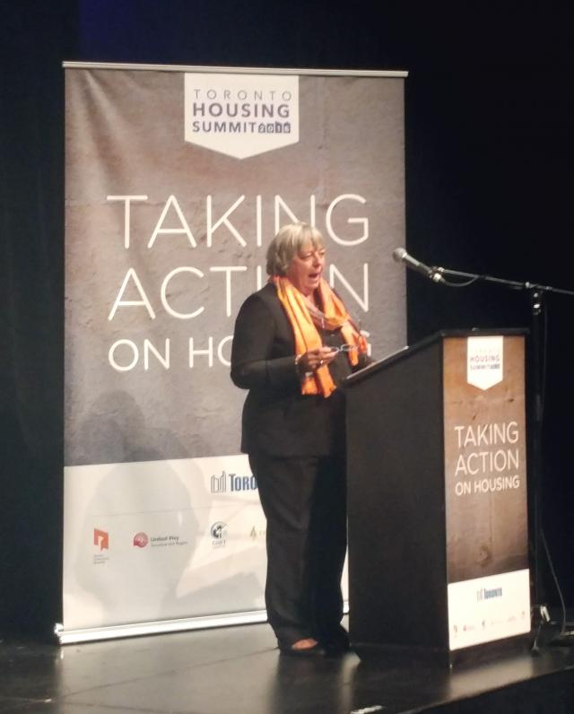 Pam McConnell, Toronto Housing Summit