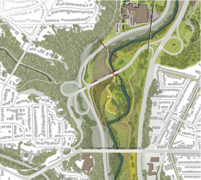 A graphic of the future park from the Master Plan, image via Evergreen