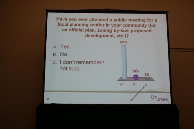 Survey on how many citizens attended a public meeting, image by Craig White