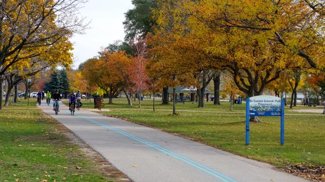 ULI Bike Ride, The Waterfront Trail beside Humber Bay, image by Craig White