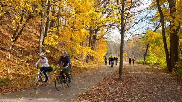 ULI Toronto Riding through Etienne Brule Park, image by Craig White