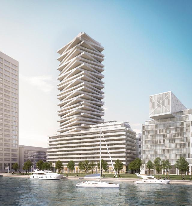 Tower at Pier 27, Toronto, by Cityzen, Fernbrook, architectsAlliance