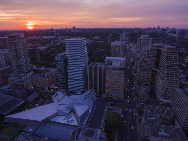 Photo of the Day, drone, Avenue Road, Bloor Street, Toronto, ROM, Exhibit