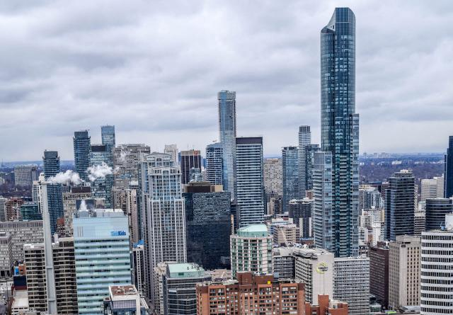 Downtown Toronto's growing density, looking north, image by Greg Lipinski