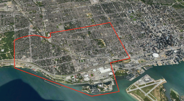 Boundary map of Southwest Toronto