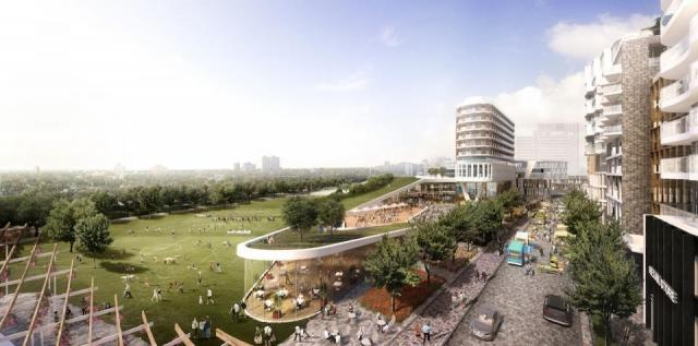 A part of the Galleria Mall redevelopment will be a public park, image via City