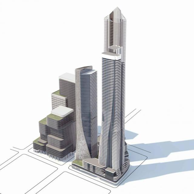 March proposal for 1-7 Yonge, image via submission to the City of Toronto