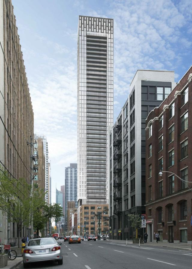 Rendering of 46 Charlotte, by Architecture Unfolded for Cityzen and Fortress RDI