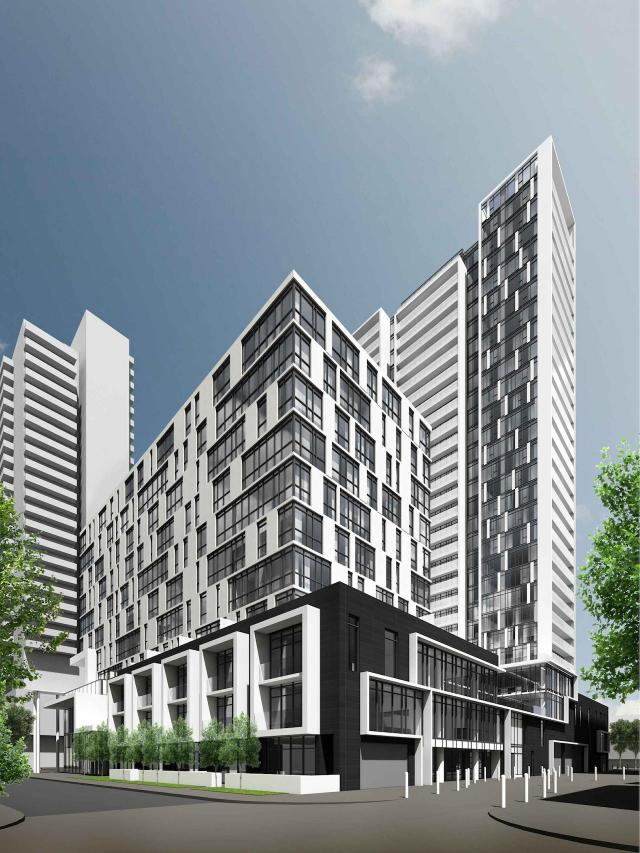 Block 16 South, Regent Park, Toronto, by The Daniels Corporation, Core