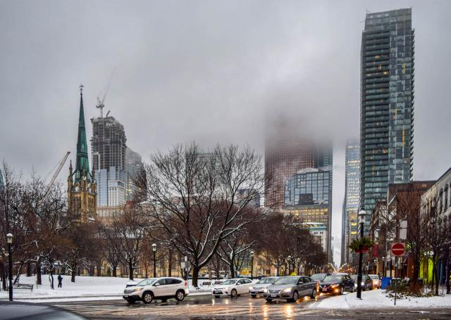 Photo of the Day, Toronto, winter, Jarvis, Adelaide, St. James Park