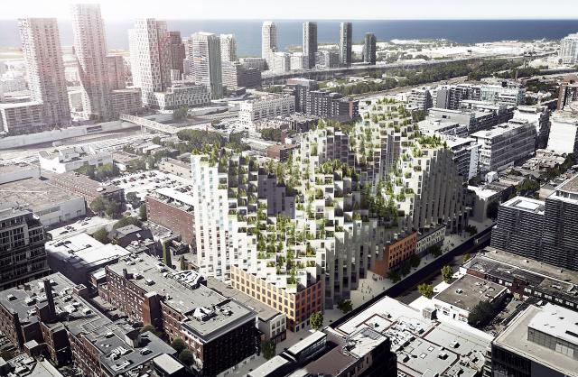 Bjarke Ingels Group for Westbank and Allied REIT on King Street West, Toronto