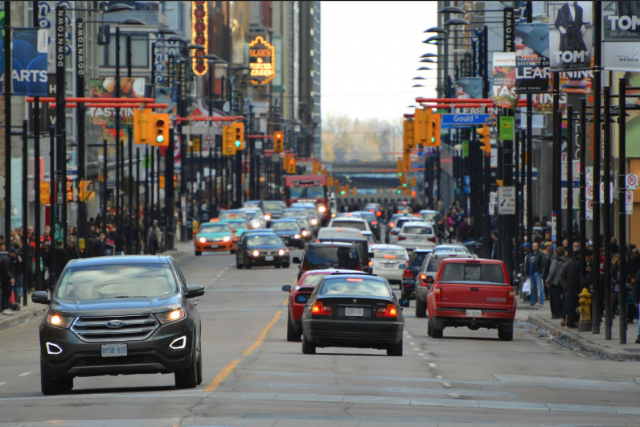 How will driverless cars change the city? image by UT Flickr contributor Greg's