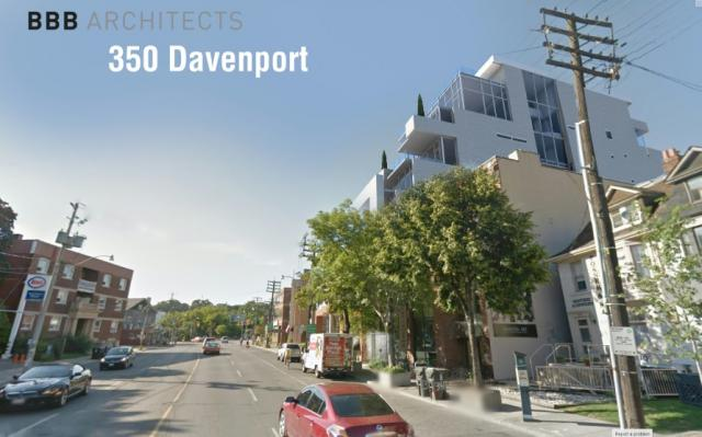 350 Davenport Road seen from the south, Toronto, image by BBB Architects