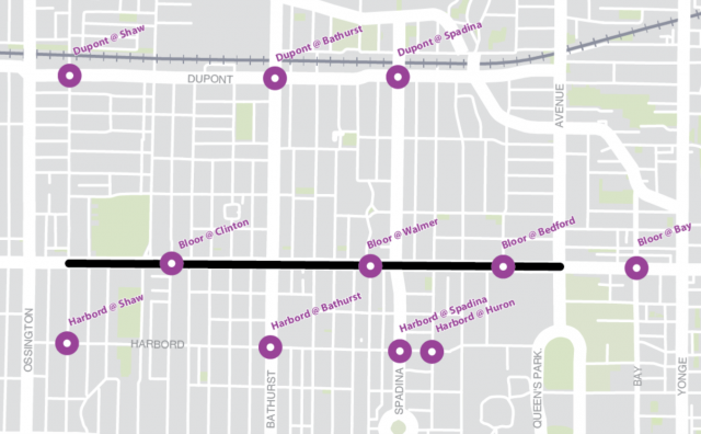 A look at the 23 camera sites around the 2.6-kilometre stretch, image via City o