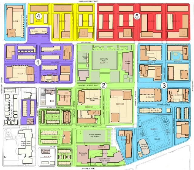 Phasing plan for Regent Park, image courtesy of Toronto Community Housing