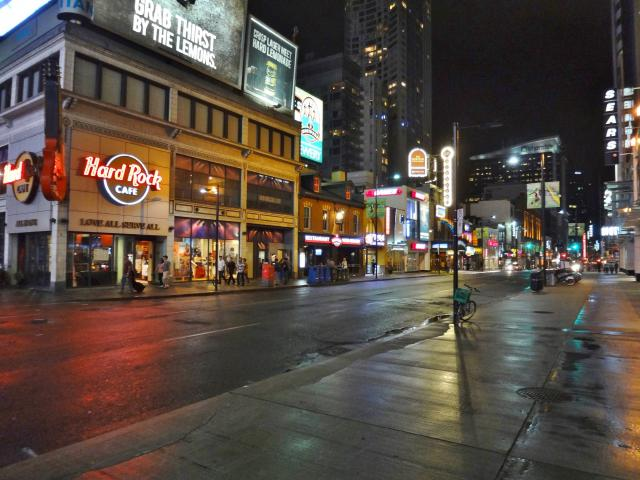 Hard Rock's Yonge Street frontage, image by UT Flickr pool contributor Jim Cagne