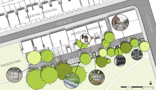 A potential 'living laneway' configuration offers a mix of uses, image via Everg