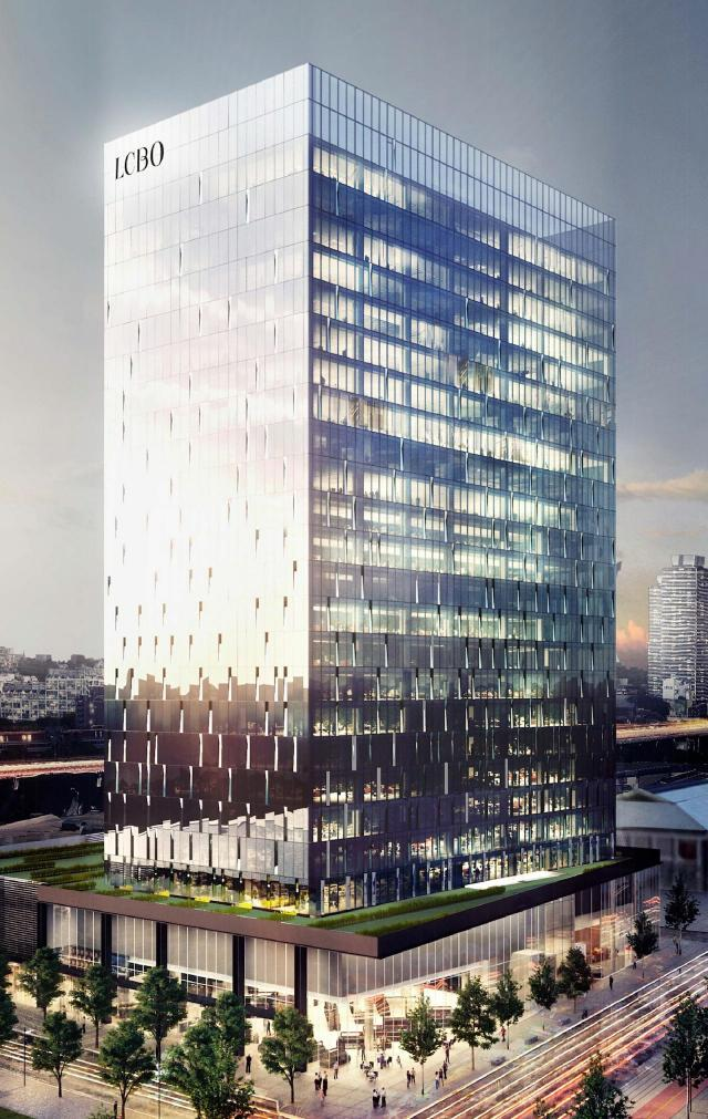 LCBO office tower, B+H Architects, Menkes Developments, Toronto