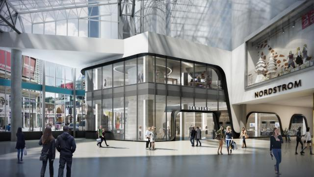 Samsung Experience Store, CF Toronto Eaton Centre, Quadrangle Architects