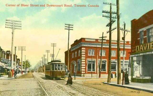Bloor Street Viaduct, streetcar in service, c. 1920s, public domain archival ima
