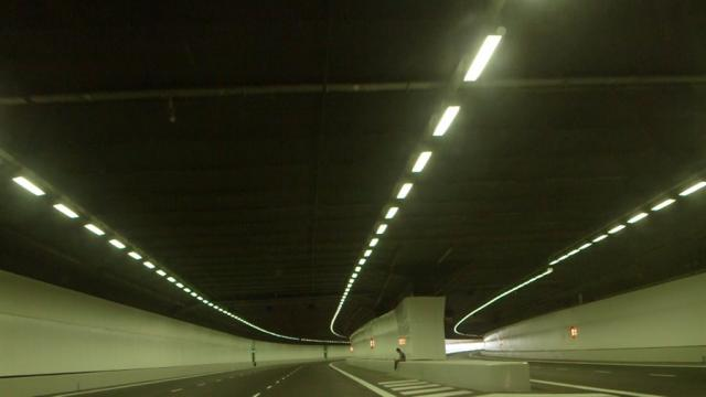 Meditation in a closed expressway tunnel from In Time to Come, image courtesy of