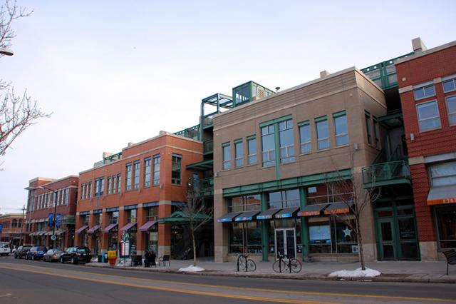 Parking structure with ground floor retail in Boulder, CO
