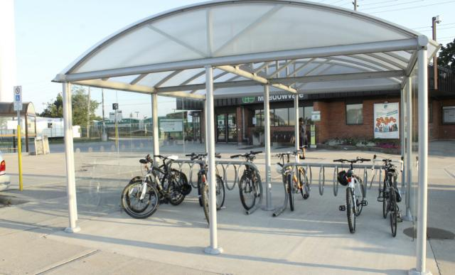 Bicycle Station at Meadowvale GO