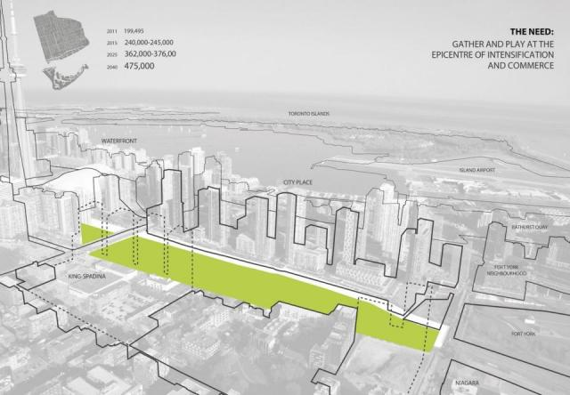 The proposed Rail Deck Park, image via City of Toronto