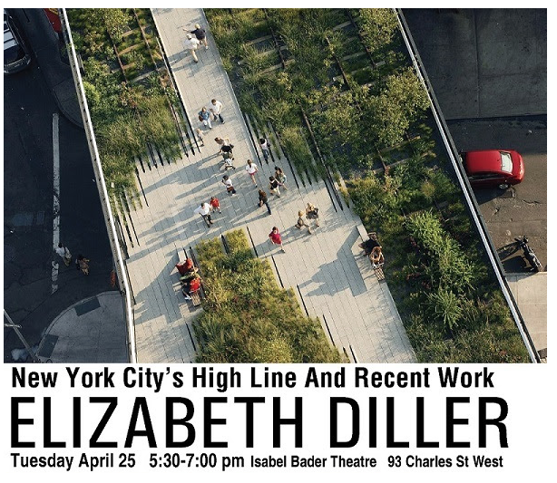 Elizabeth Diller's free address will explore what Toronto can learn from project