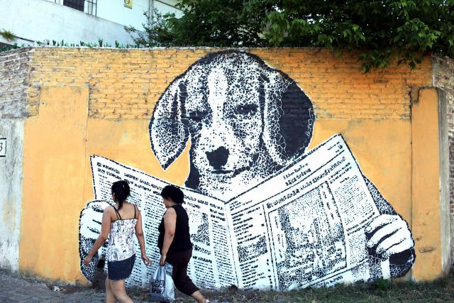 Street art in Buenos Aires, image via White Walls Say Nothing